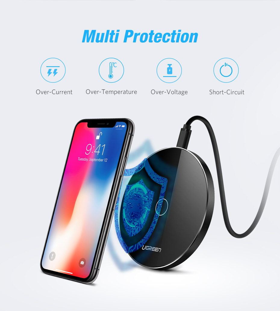 Ugreen 10w Qi Wireless Charger For Iphone 8 X Fast Charging Mobile Repair Short Circuit